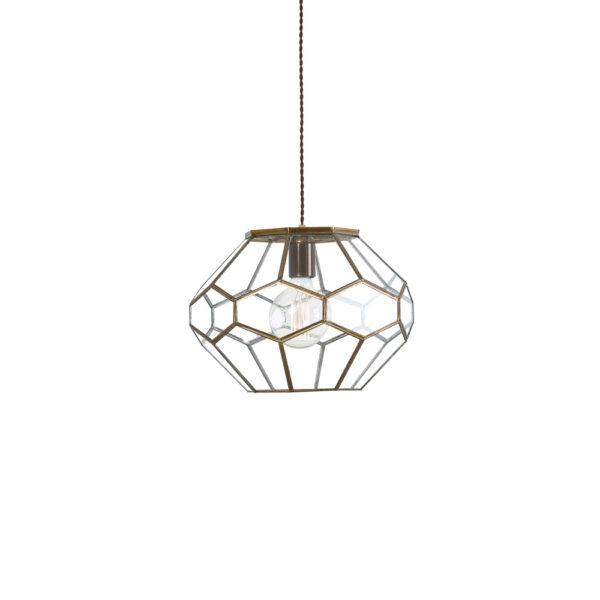 Colgante Benevento - estilo mediterraneo - cristal y acero barnizado - Liderlamp (4)
