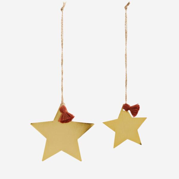 Colgante Estrella – oro antiguo – adorno – Madam Stoltz – metal – Liderlamp (1)