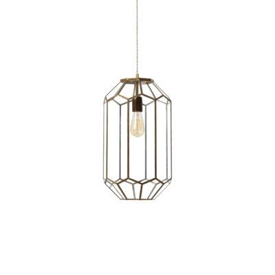 Colgante Lanciano - estilo mediterraneo - cristal y metal - Liderlamp (3)
