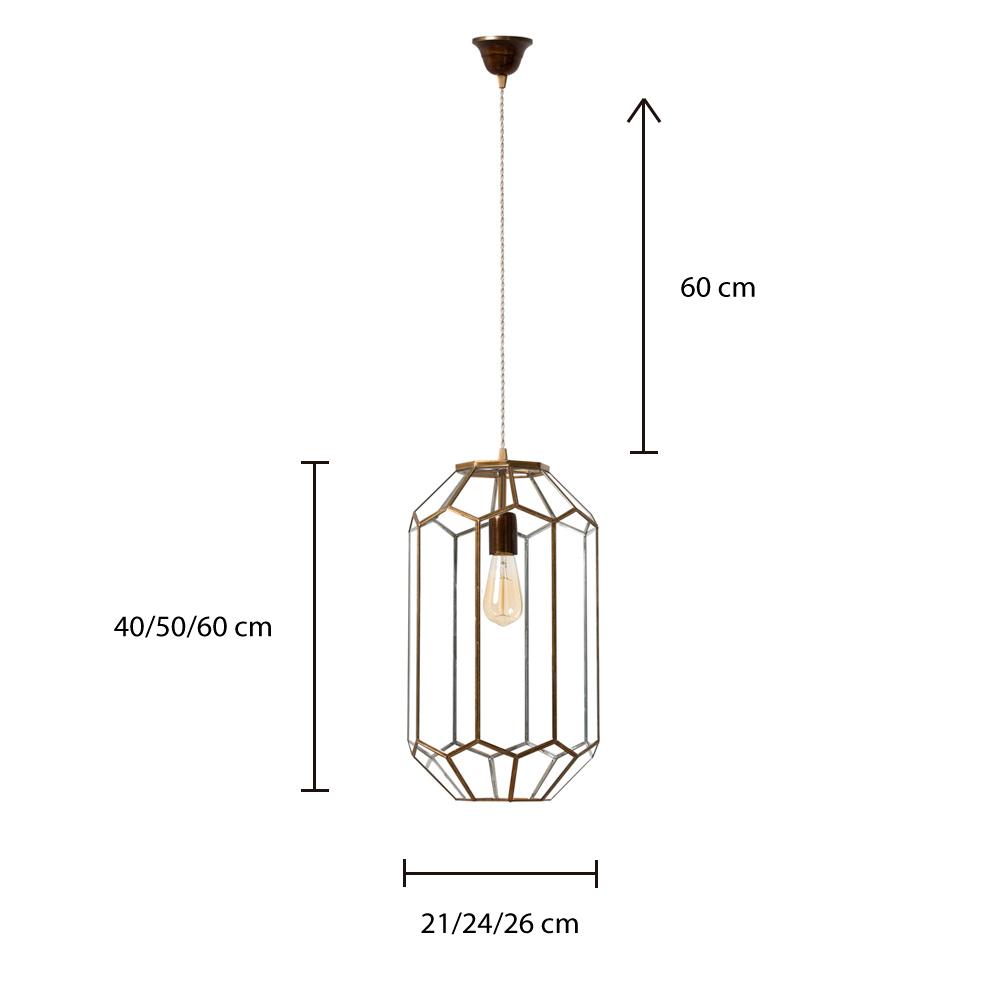 Colgante Lanciano - estilo mediterraneo - cristal y metal - Liderlamp (5)