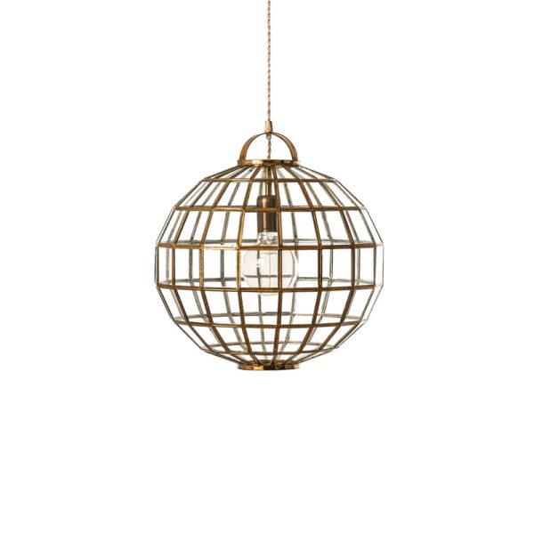 Colgante Macerata - estilo mediterraneo - cristal y acero barnizado Liderlamp (1)
