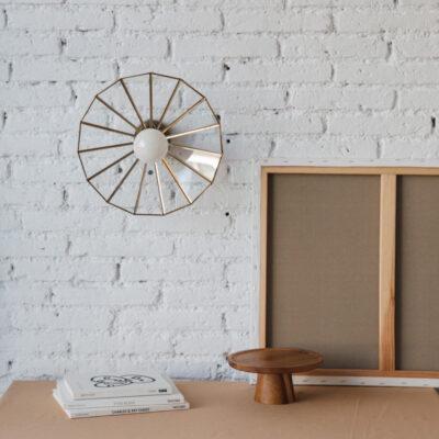 Plafon Andros - aplique - estilo mediterraneo - cristal y metal - Liderlamp (1)