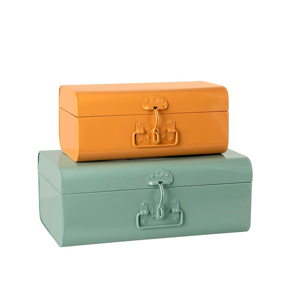 Set de 2 maletas de metal - Maileg - habitacion infantil - almacenaje - Liderlamp (1)