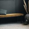 Banco Lao – terciopelo mostaza – metal – House Doctor – asiento – Liderlamp (3)