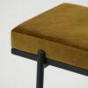 Banco Lao – terciopelo mostaza – metal – House Doctor – asiento – Liderlamp (4)