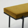 Banco Lao – terciopelo mostaza – metal – House Doctor – asiento – Liderlamp (5)