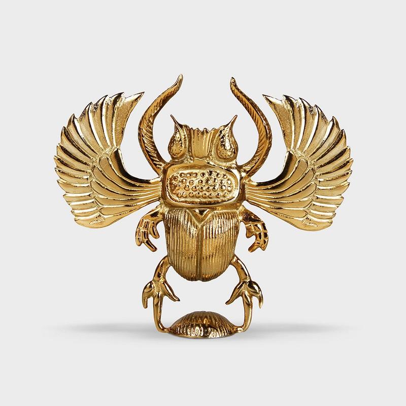 Candelabro Escarabajo Dorado - HK Living - regalo deco -velas - Liderlamp (2)