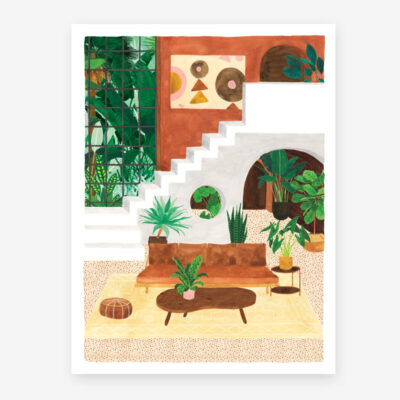 Lamina Living Room - poster - ilustracion - All the ways to say - cuadro - Liderlamp (1)