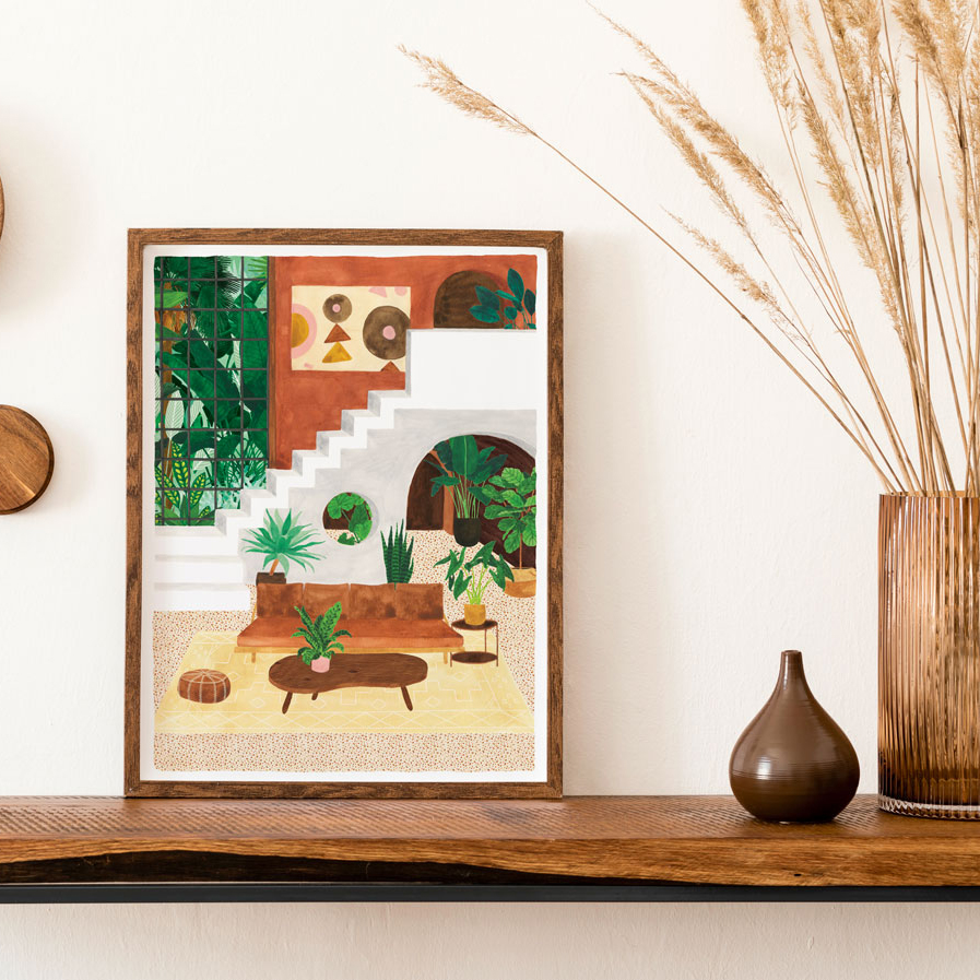 Lamina Living Room - poster - ilustracion - All the ways to say - cuadro - Liderlamp (1)