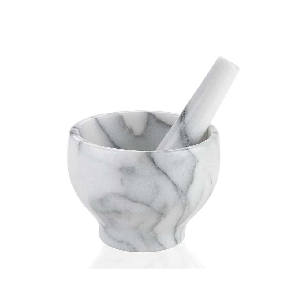 Mortero de Marmol Blanco Bocuse - cocina - Andrea House - regalo - Liderlamp
