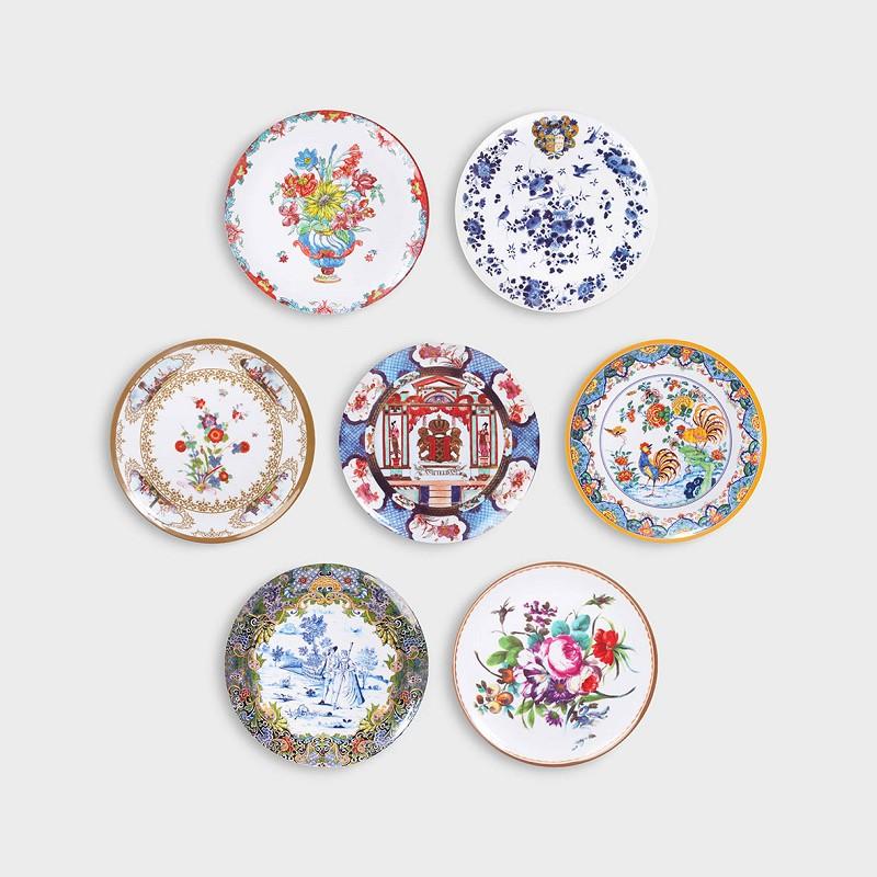 Set 7 Platos de Melanina - Coleccion Rijksmuseum- Klevering - regalo - Liderlamp (1)