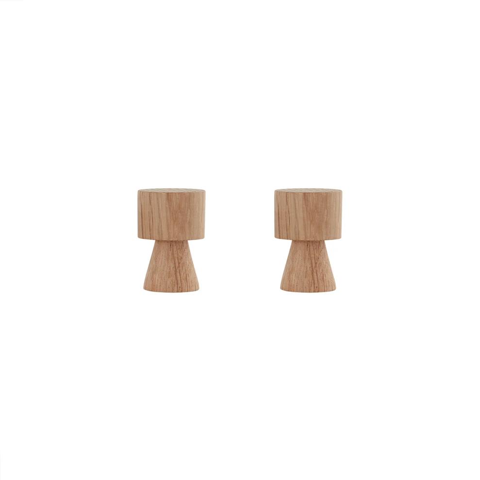 Set de 2 Pechas Volga - Natural - OYOY - madera - almacenaje - perchero - Liderlamp