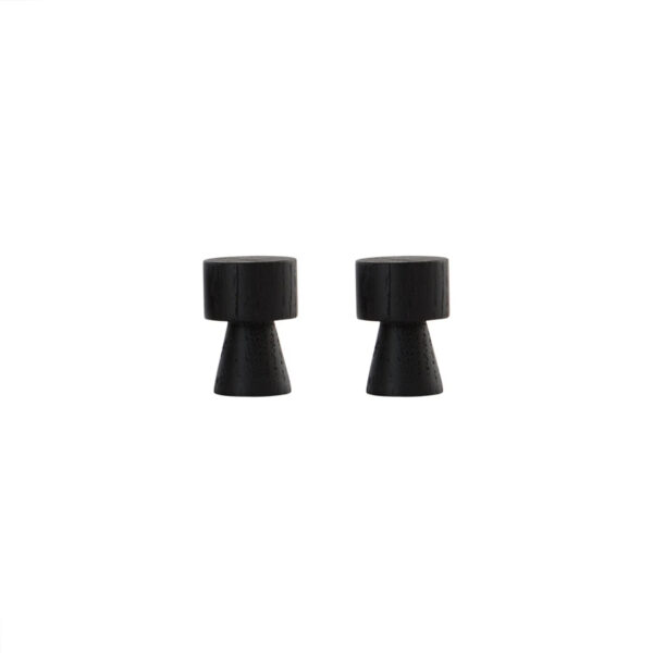 Set de 2 Pechas Volga - Negro - OYOY - madera - almacenaje - perchero - Liderlamp