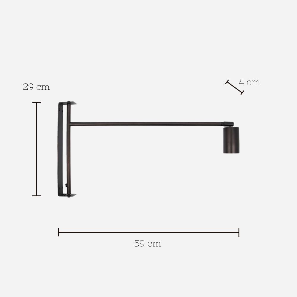 Aplique Norm - House Doctor - minimalista - metal negro - sobrio Liderlamp (12)