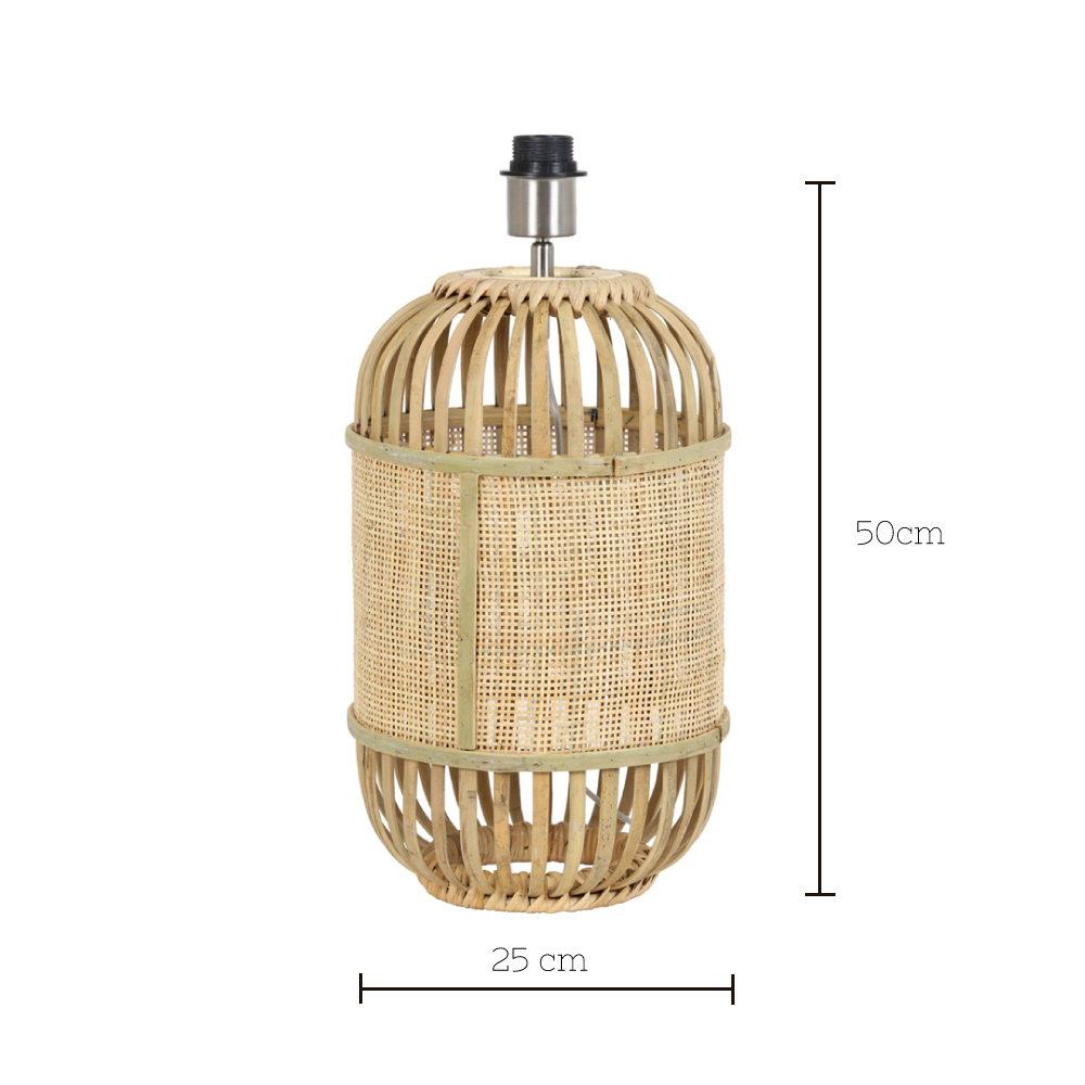 Base de Sobremesa Alifia - Light and Living - madera y bambu - Liderlamp 25