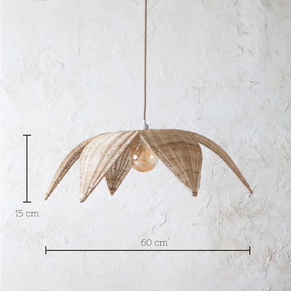 Colgante Espiga - ratan en color natural - Mahe - fibras naturales - Liderlamp 1