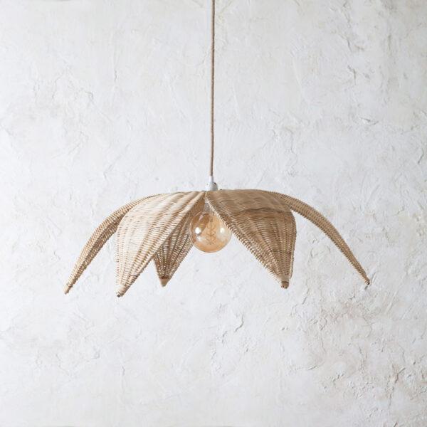 Colgante Espiga - ratan en color natural - Mahe - fibras naturales - Liderlamp (4)