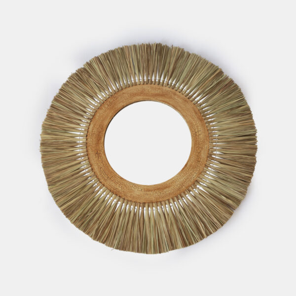 Espejo Alang - hoja de palmera - madera hibisco - Mahe - Liderlamp (1)