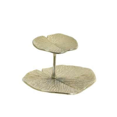 Fuente de 2 pisos Leaf - Light and Living - Frutero - Cake stand - Liderlamp