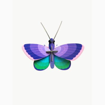 Blue Copper Butterfly - 3D - Studio Roof - decoracion mural - Liderlamp (1)