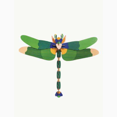 Dragonfly Green - 3D - Studio Roof - decoracion mural - Liderlamp (1)