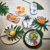 Fuente de Porcelana Palmeras - HKliving - servir la mesa - menaje - Liderlamp (1)