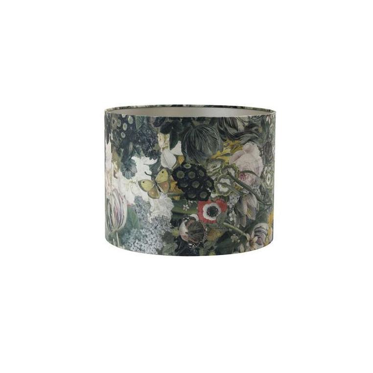 Pantalla Butterfly - estampado floral - textil - Light and Living - Liderlamp