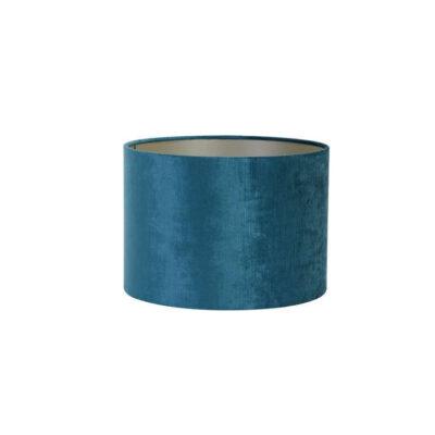 Pantalla Gemstone - azul petroleo - textil - Light and Living