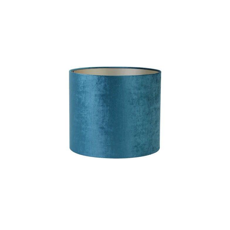 Pantalla Gemstone - azul petroleo - textil - Light and Living - Liderlamp