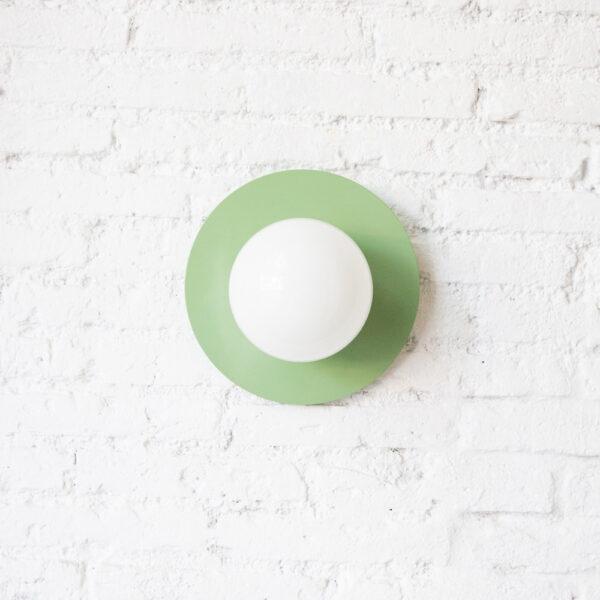 Aplique Anita - estilo Mid Century - verde - tulipa de cristal - Liderlamp (1)