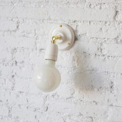 Aplique Sunday - - orientable - bombilla al aire - metal latonado - Liderlamp (1)