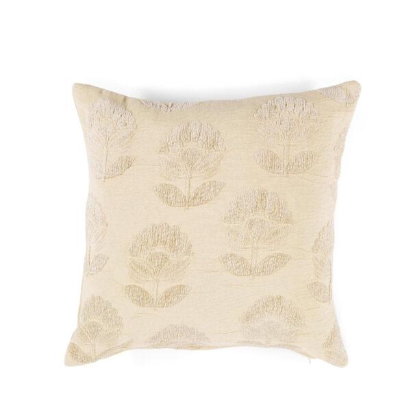 Cojin Algodon Dalia - 45x45 - textiles hogar - color crudo - flecos - Liderlamp (1)