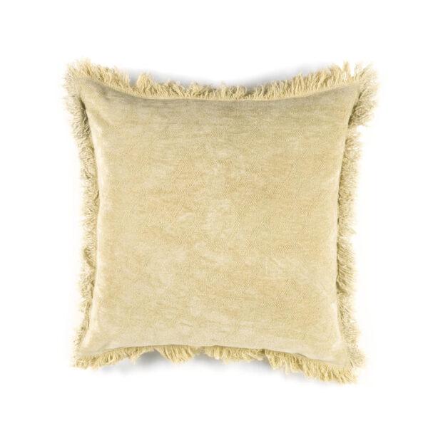 Cojin Algodon Hana - 45x45 - textiles hogar - color crudo - flecos - Liderlamp (1)