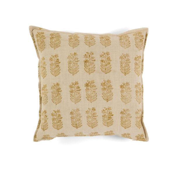 Cojin Algodon Lily - 45x45 - textiles hogar - color crudo - flores - Liderlamp (1)