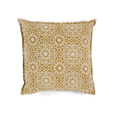Cojin Algodon Marigold - 45x45 - textiles hogar - color crudo - flores - Liderlamp (1)