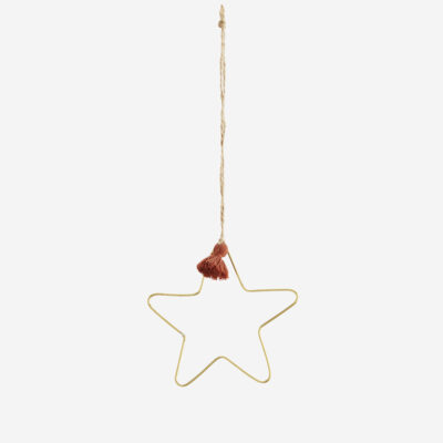 Colgante Estrella - Madam Stoltz - dorado - adorno boho - borla teja - Liderlamp