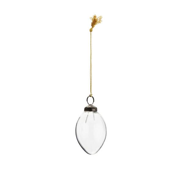 Huevo Colgante Cristal - Transparente - Madam Stoltz - adorno boho - Liderlamp (1)