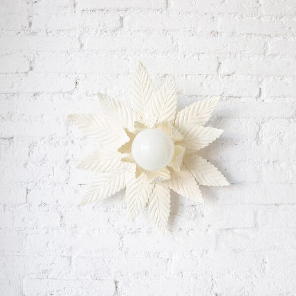 Plafon Luminosa Doble - Blanco - Mid Century - Vegetal - Flor - Liderlamp