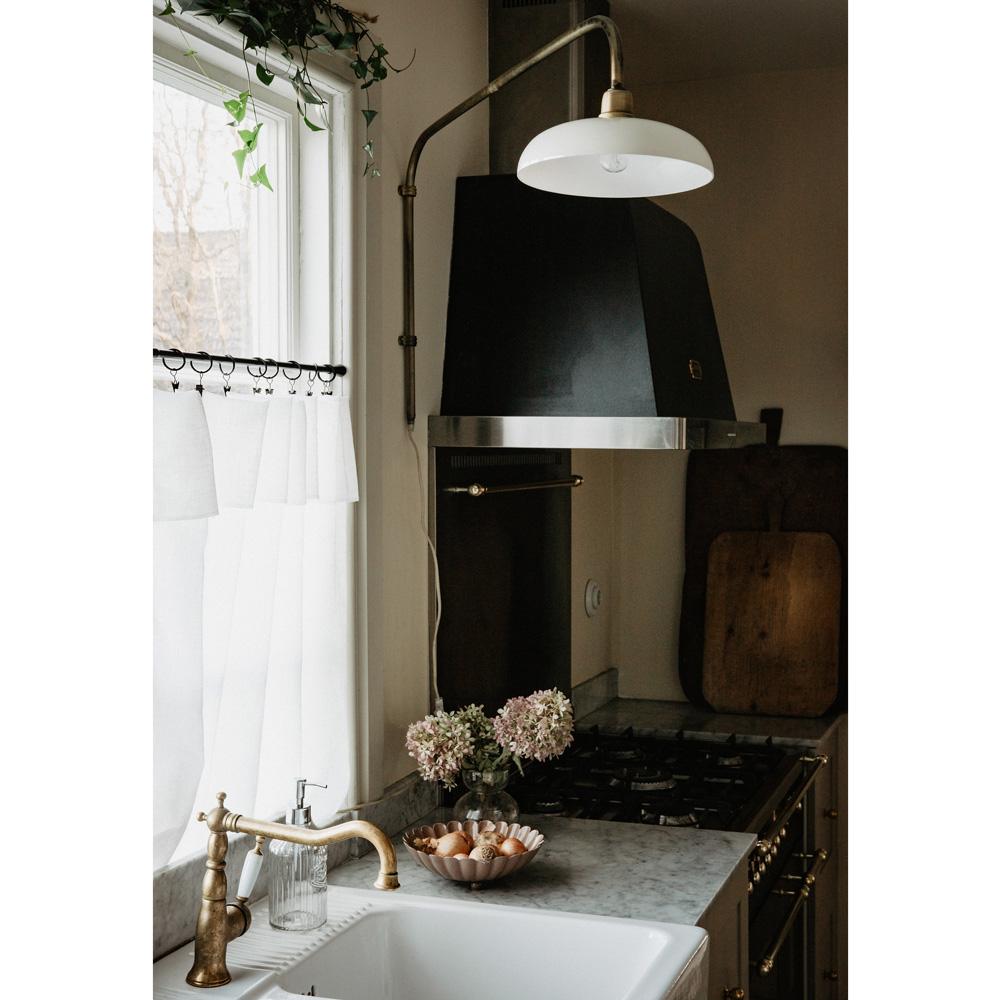 Aplique Britt - lampara arco - retro - cocina - salon - laton cepillado - Liderlamp (1)