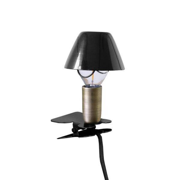 Aplique Didac - metal lacado pinza - cable interruptor y enchufe - industrial - luz infantil - Liderlamp (12)