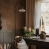 Aplique Murelle - lampara arco - retro - cocina - salon - laton cepillado - Liderlamp (1)