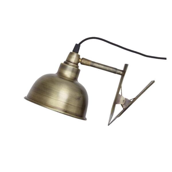 Aplique Rheo - laton envejecido - cable interruptor y enchufe - industrial - Liderlamp