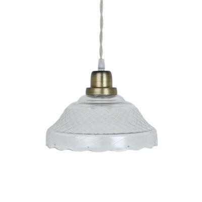 Colgante Barletta - vintage - estilo retro - cristal y laton - Liderlamp (1)