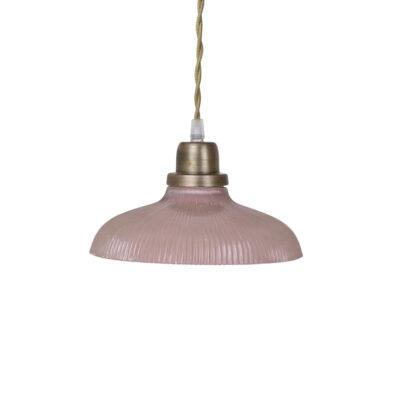 Colgante Cille - Rosa Antiguo - vintage - estilo retro - cristal y laton - Liderlamp (1)