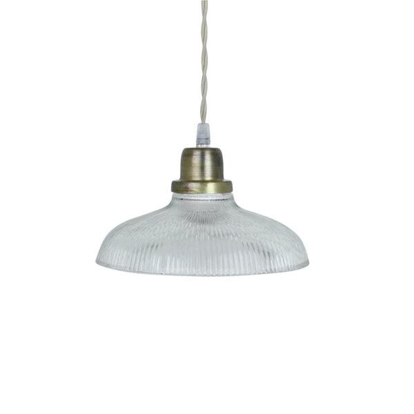 Colgante Cille - Transparente - vintage - estilo retro - cristal y laton - Liderlamp (2)