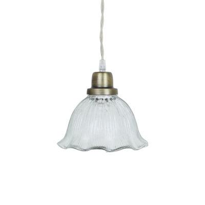 Colgante Tilly - Transparente - vintage - estilo retro - cristal y laton - Liderlamp (1)