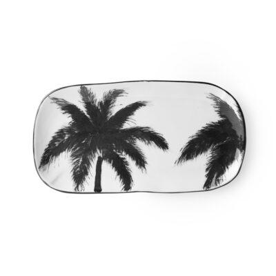Fuente Plana Porcelana Palmeras - palmeras - servir la mesa - menaje - Liderlamp (1)