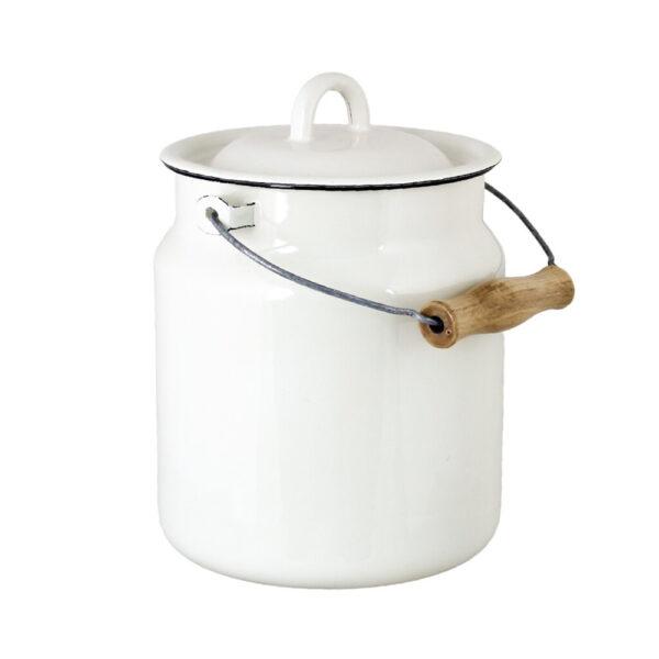 Lechera Bruna - Blanca - decoracion cocina - almacenaje - retro - Liderlamp (2)