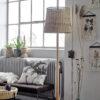 Pie de Salon Pachira - ratan - fibras naturales - iluminacion salon - Liderlamp (1)