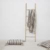 Plaid Fede - algodon reciclado - cuadros grises- textil dormitorio - clasico - Liderlamp (2)
